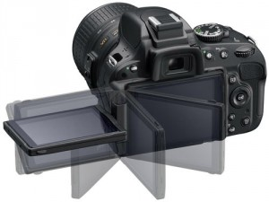 Nikon D5100 articulated screen image