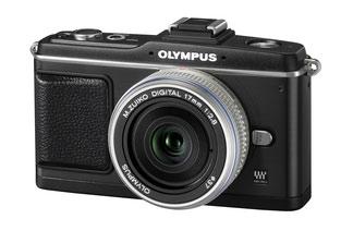 Olympus E-P2 camera in black