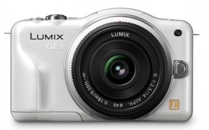 Panasonic Lumix GF3 camera in white
