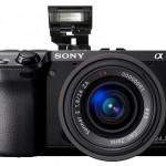 Sony NEX-7 with pop-up flash