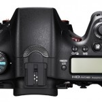 Sony A77 camera top view