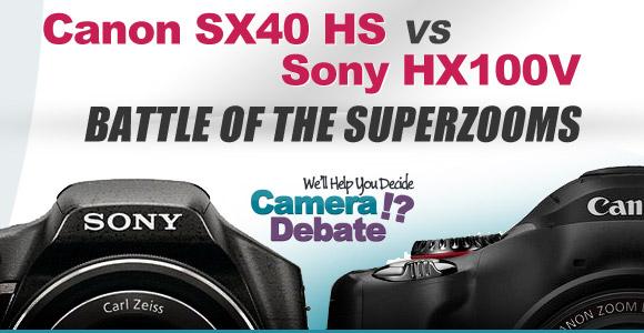 Canon SX40 HS vs Sony HX100V