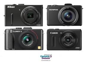 Four premium compact digital cameras