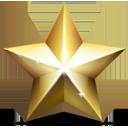 shining golden star, rating