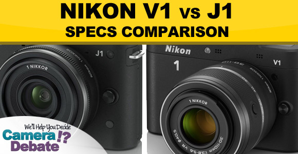 Nikon V1 vs J1 cameras side by side