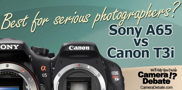 Sony A65 vs Canon T3i cameras