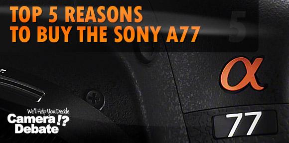 Sony A77 closeup photo