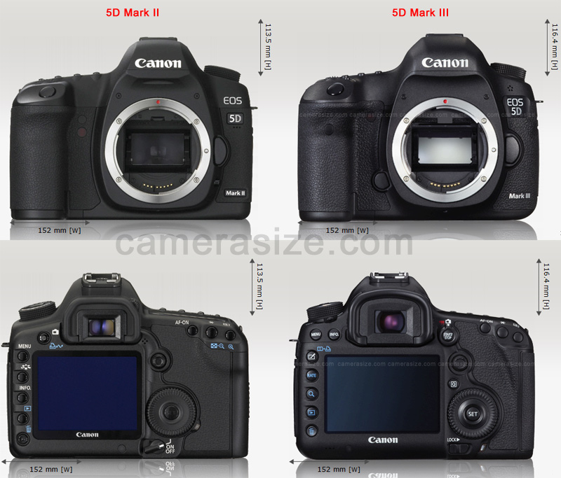 Canon 5D Mark III Vs II