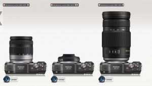 Panasonic GF5 with different interchangeable lenses attached