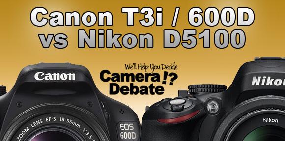 Canon T3i vs Nikon D5100