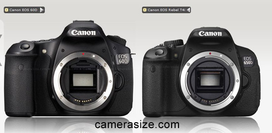 Canon 650D and 60D cameras