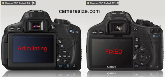 Fixed vs articulating screen, Canon dslr cameras