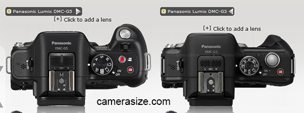 Panasonic G5 vs Olympus E-M5, top view
