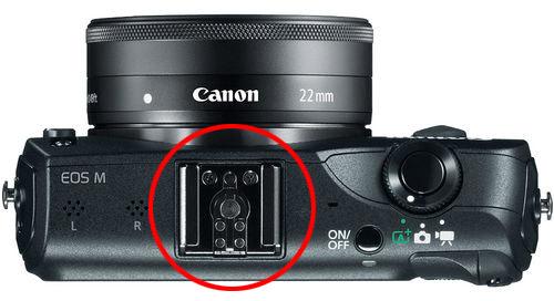 Canon EOS M top