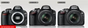 Nikon D3100 vs D3200 vs D5100
