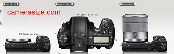 Sony NEX5R and A77 cameras