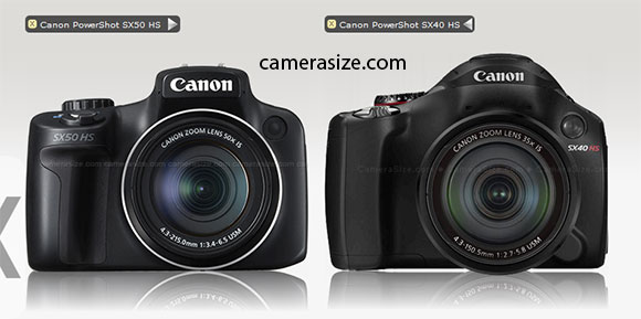 CAnon SX50 HS vs SX40 HS size comparison