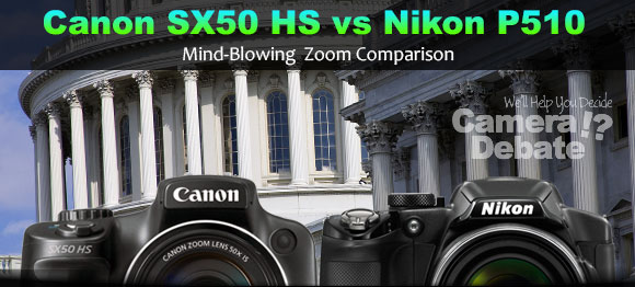 Canon SX50 HS, Nikon P510 and zoom on building
