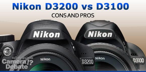 Nikon D3200 and D3100 digital SLR cameras