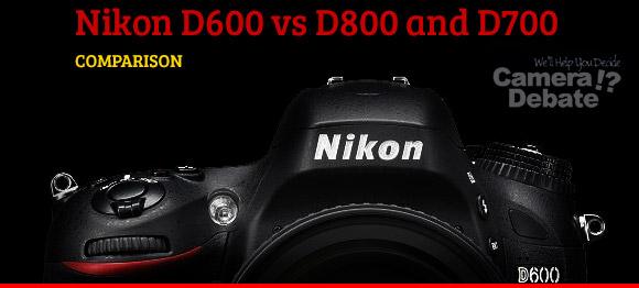 Nikon D600 camera on a black background