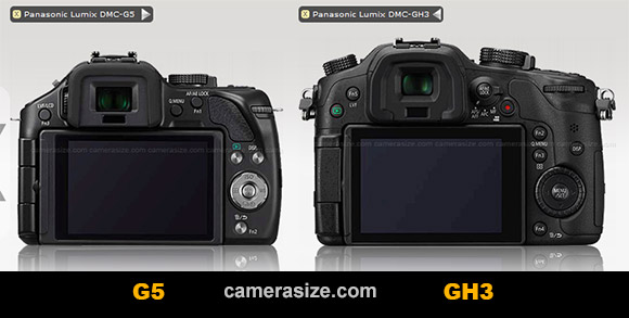 Panasonic GH3, G5 rear