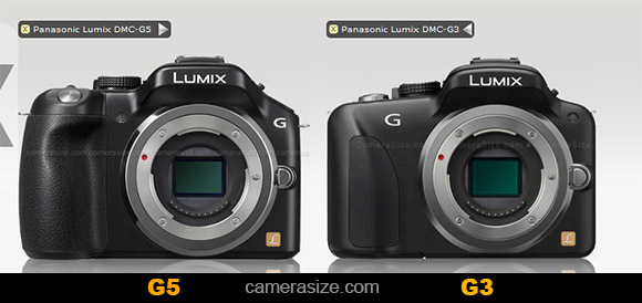 Panasonic G5 vs G3, size comparison
