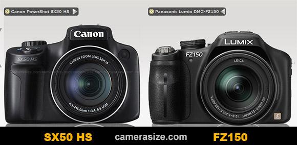 Panasonic FZ150 vs Canon SX50 HS