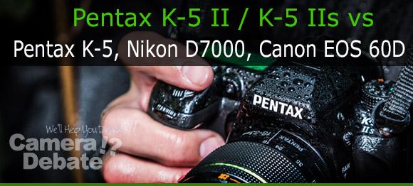 person holding Pentax K-5 II wet
