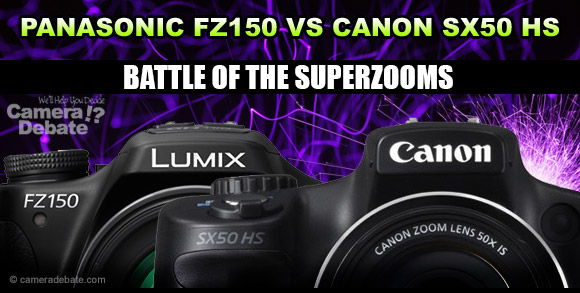 Canon and Panasonic superzoom cameras