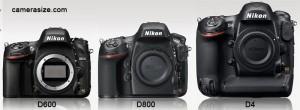 D600 vs D800 vs D4