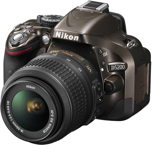 Nikon D5200 dslr, bronze