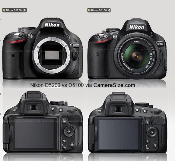Nikon D5200 vs D5100 comparison