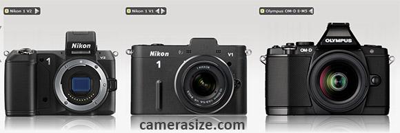 Nikon 1 V2 vs V1 vs Olympus OM-D E-M5