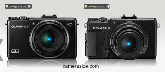 Olympus XZ-1 vs XZ-2 size comparison