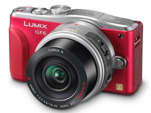 Panasonic Lumix GF6 camera in red