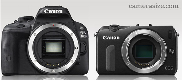 Canon Rebel SL1 and EOS M side by side comparison