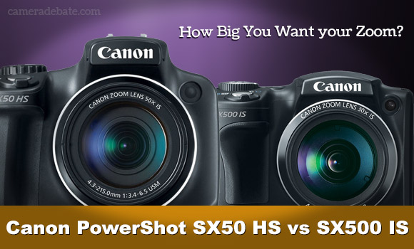 Canon SX50 HS and SX500 IS superzoom camerars