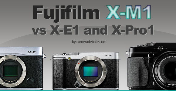 Fujifilm X-M1, X-E1 and X-Pro1 side by side