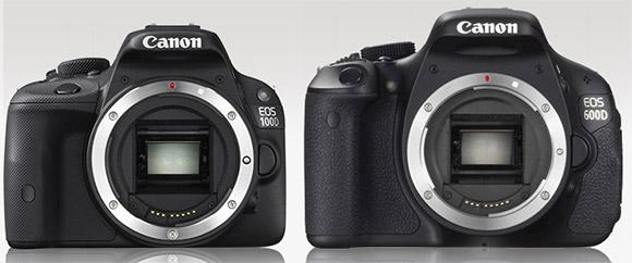 Canon T3i and SL1 size comparison