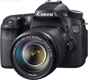 Canon EOS 70D with 18-135mm lens