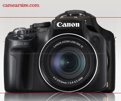 Canon SX50 HS vs Panasonic Lumia FZ70 size comparison