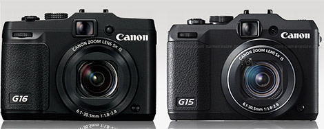 Canon PowerShot G16 and G15 side by side
