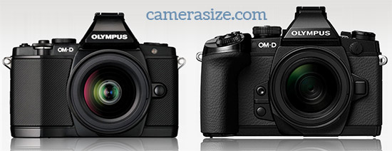 Olympus OM-D E-M5 and OM-D E-M1 size comparison