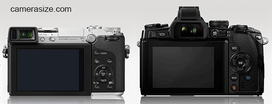 Panasonic Lumix GX7 and Olympus OM-D E-M1 viewfinders