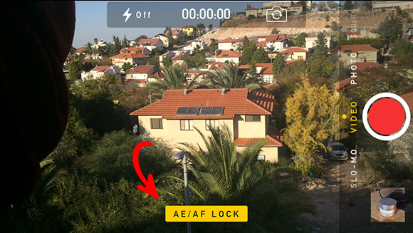AE AF lock iOS 7