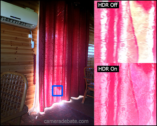 iOS7 HDR on and off comparison