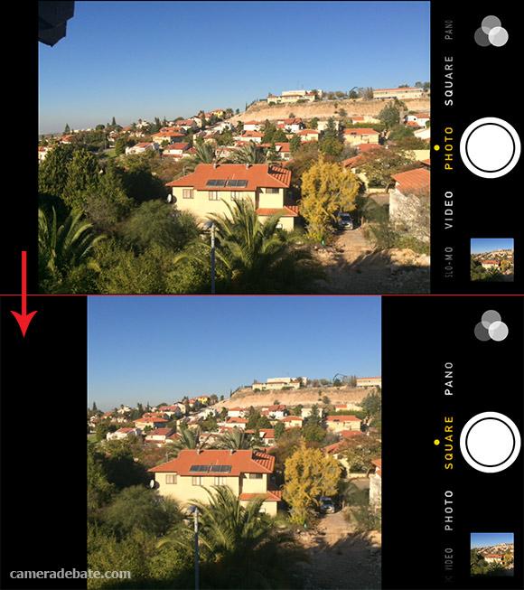 Square photo mode, iOS7