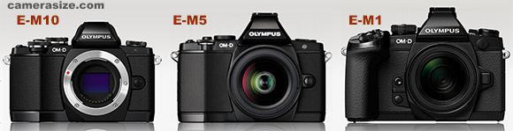 Olympus OM-D E-M5 size comparison