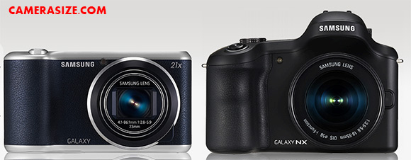 Samsung Galaxy Camera 2 and Galaxy NX side by side