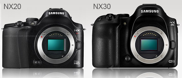 Samsung NX30 and NX30 side by side